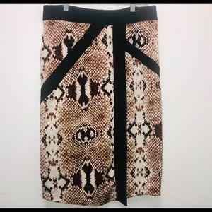 Worthington Brown Snake Print Pencil Skirt